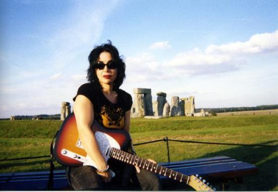 Jana Peri at Stonehenge By Gail Worley