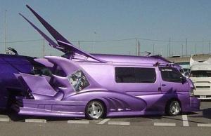 Purple Batwing Van