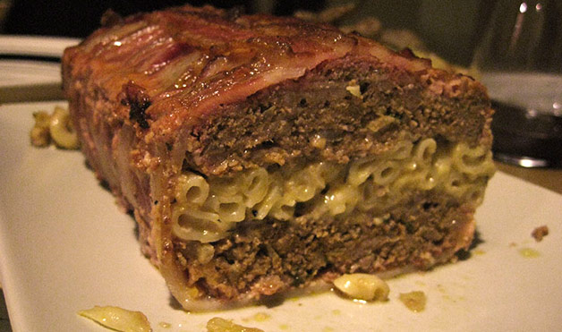 ... Macaroni & Cheese-Stuffed Meat Loaf, Wrapped In Bacon | The Worleygig