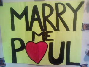 Marry Me Paul Sign