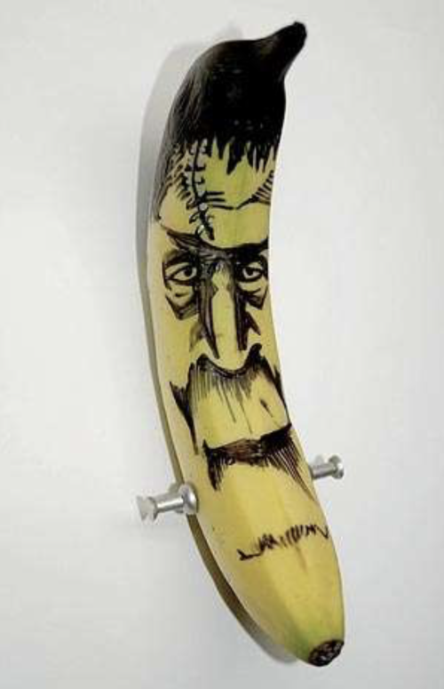 frankenstein banana carving