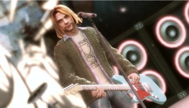 kurt cobain guitar hero 5