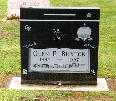 Glen Buxton Tomb Stone