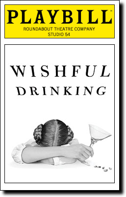 Wishful Drinking Playbill Cover
