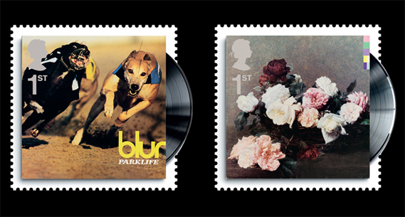 Album Stamps Blur and New Order