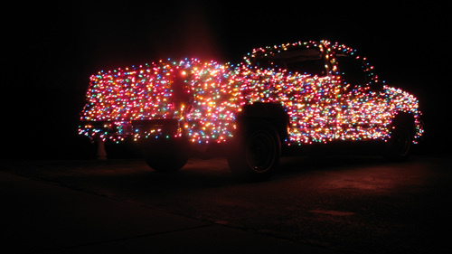 Christmas Light Truck 2