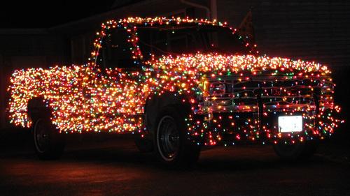 Christmas Light Truck