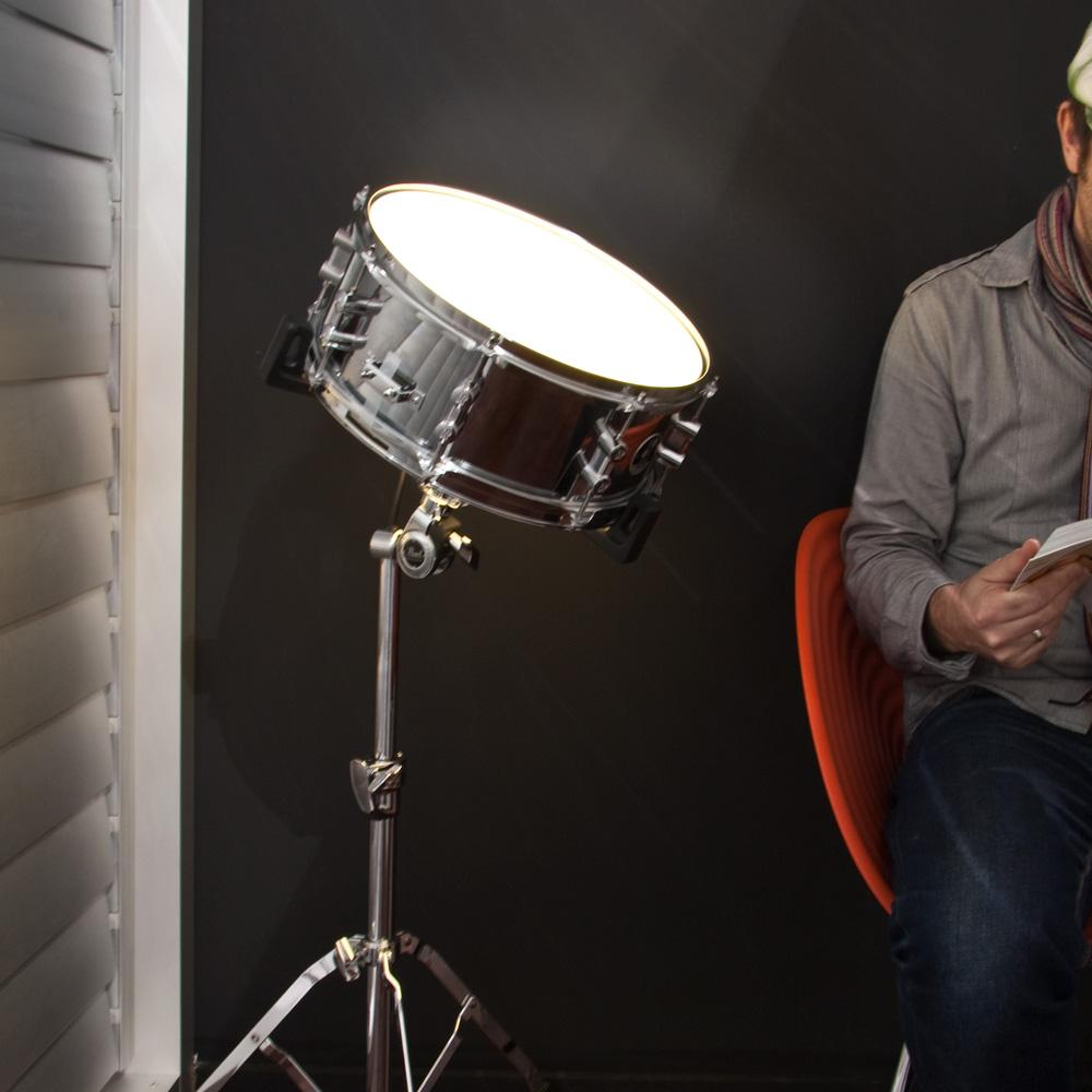 cool thing of the day sound activated snare drum light the worley gig. Black Bedroom Furniture Sets. Home Design Ideas