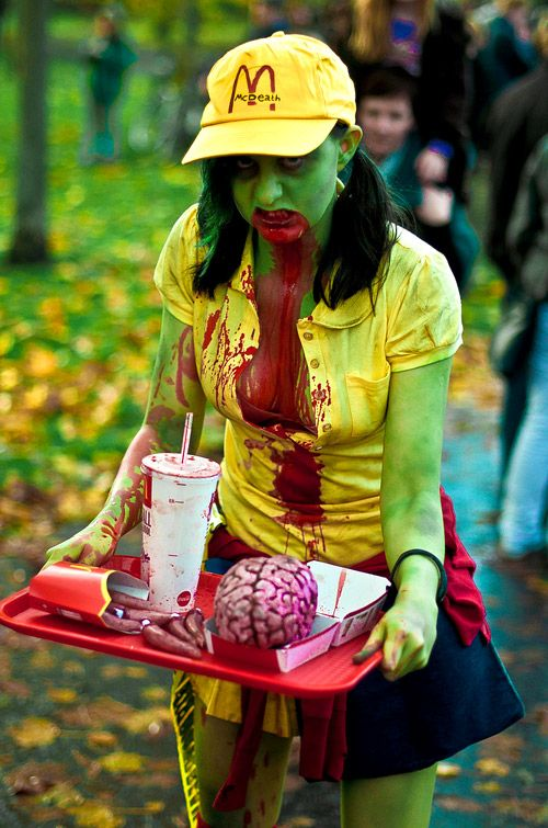 Zombie McDonalds Worker Costume