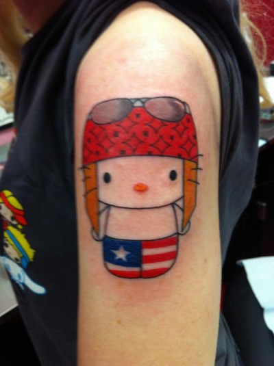3f9bdc19d Bad Idea Tattoo Of The Day: Hello Kitty Axl Rose | The Worley Gig