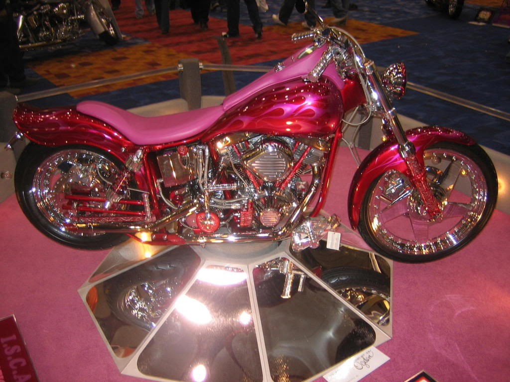 Pink Thing Of The Day Pink Custom Chopper The Worley Gig