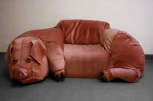 Captivating Pink Thing Of The Day: Pig Chair Sculpture