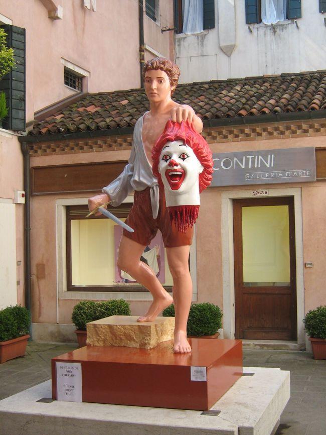 Ronald McDonlad Severed Head Venice