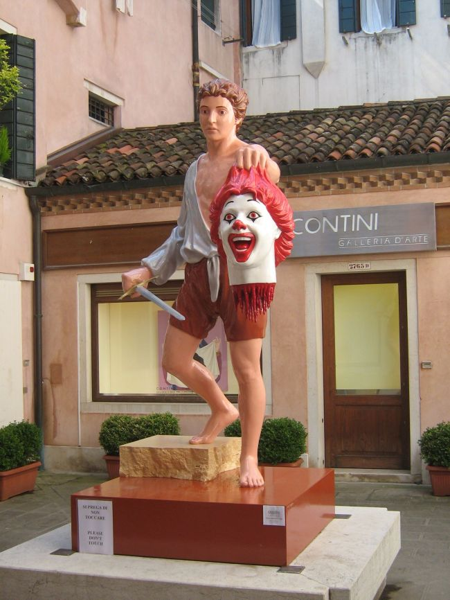 Ronald McDonlad Severed Head Venice