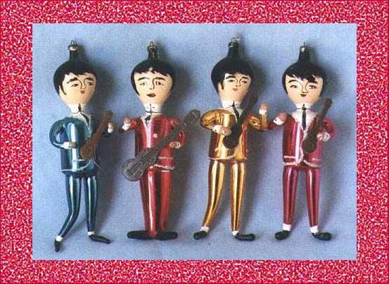the beatles vintage christmas ornaments