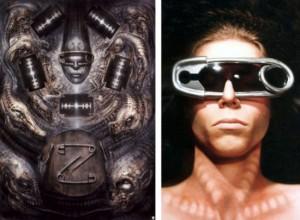 HR Giger Artwork Inspired Glasses
