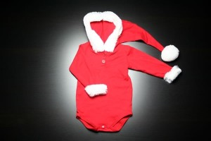 Santa Claus Onesie for a Baby