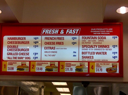 Fresh and Fast Menu