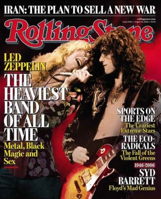 Robert Plant and Jimmy Page on the Cover of Rolling Stone Magazine