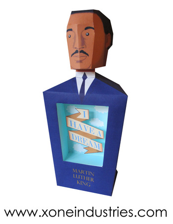 Martin Luther King Jr Papertoy