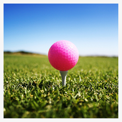 Hot PinkGolf Ball