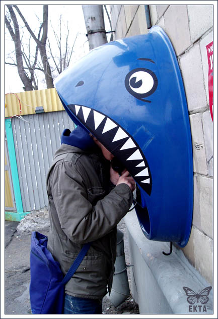 Shark Attack Phone Booth