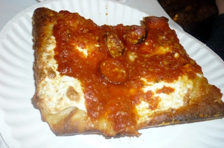 Prince Street Pizza Spicy Spring Pepperoni Sicilian Slice
