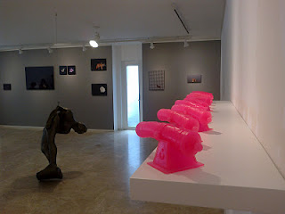 Pink Cannon Sculptures