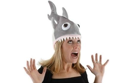 Plush Shark Attack Hat