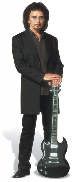 Tony Iommi Portrait With Guitar