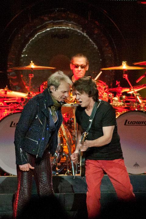David Lee Roth, Alex and Eddie Van Halen at MSG