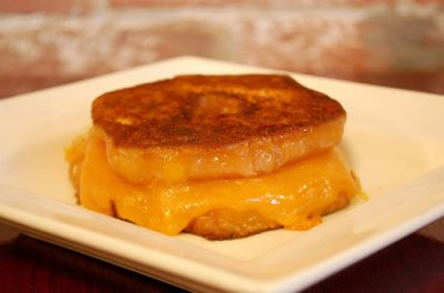 Grilled Cheese Sandwich with Donut for Bread