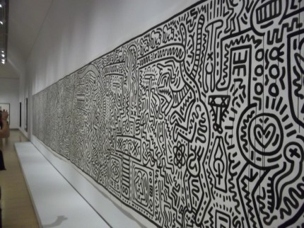 Keith Haring Long Wall Mural