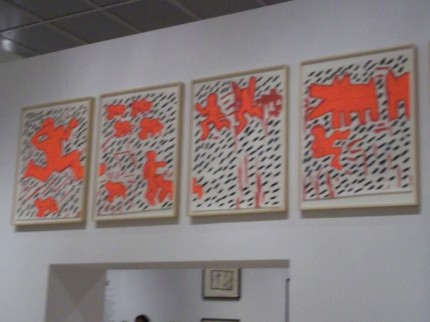 Keith Haring Orange Array