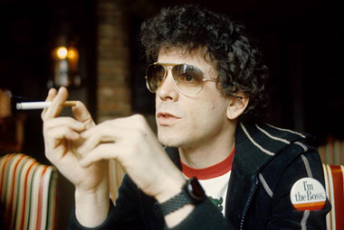 Lou Reed Holding a Cigarette