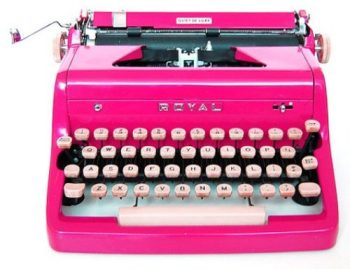 Hot Pink Vintage Typewriter