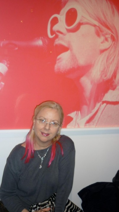 Gail With Kurt Cobain Pink Photo
