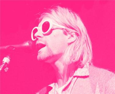 Kurt Cobain Singing Pink
