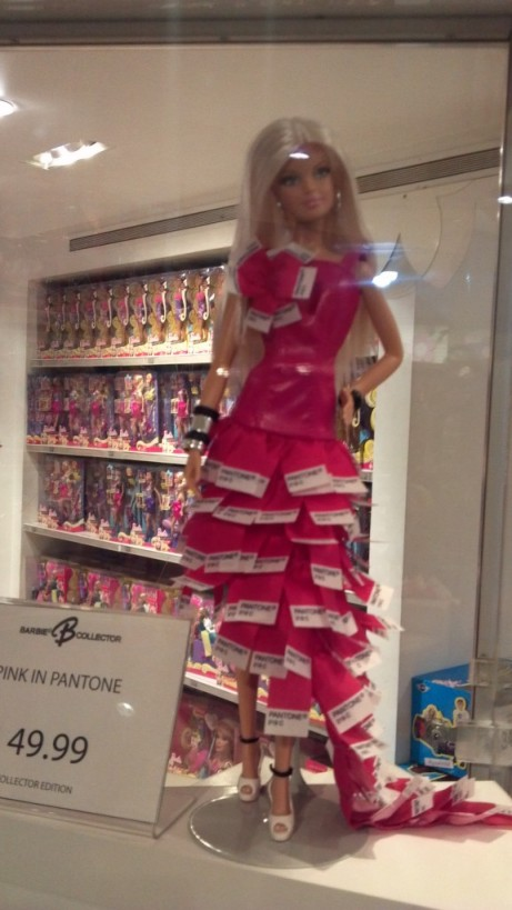 Pink Pantone Barbie Doll
