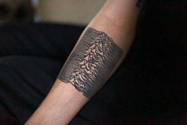 Tattoo of Joy Divison Unknown Pleasures  Album Cover Graphic
