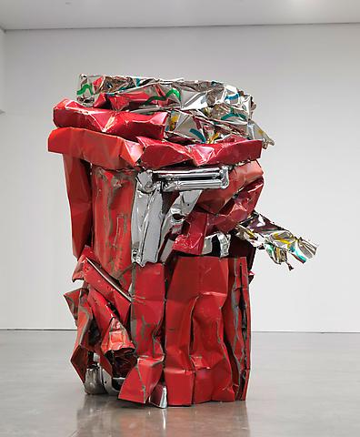 John Chamberlain Choices Red Sculpture