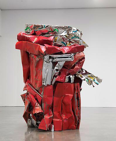 John Chamberlain Choices Red Sculpture