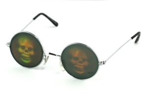 Holographic Skull Glasses