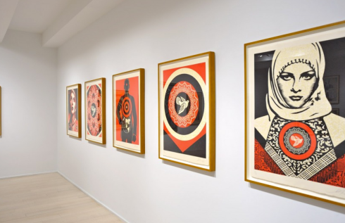 Shepard Fairey at Pace Prints 1