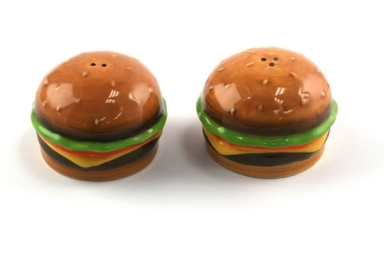 Cheeseburger Salt & Pepper Shakers