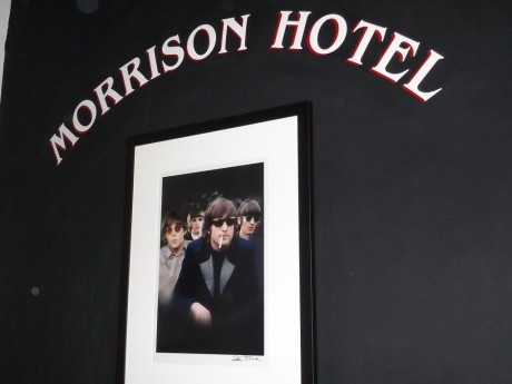 Morrison Hotel Gallery Logo with Color Beatles Group Shot