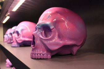 Pink Ceramic Skulls
