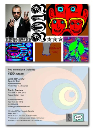 Ringo Starr Art Exhibit Card