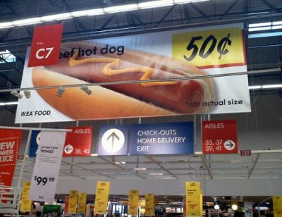 Hot Dog Not Actual Size