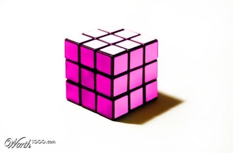 Pink Rubiks Cube